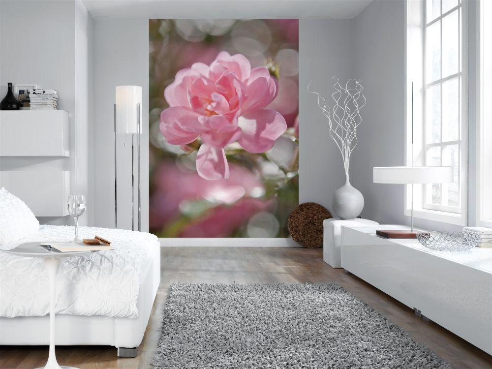 Фото белые обои в цветок